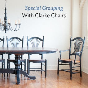Available in a special grouping with our clarke sheaf back chairs