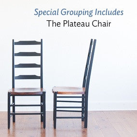 The plateau ladderback chair is included in this special grouping