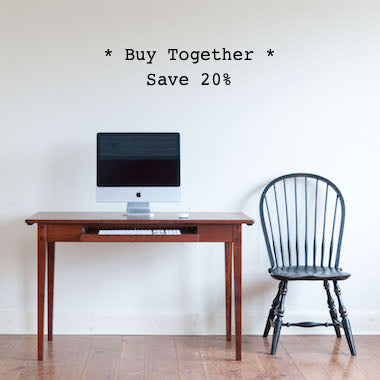 Buy the Helen writing desk and Cecil windsor chair together, and save 20%.
