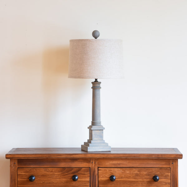 Broad Table Lamp - Grey