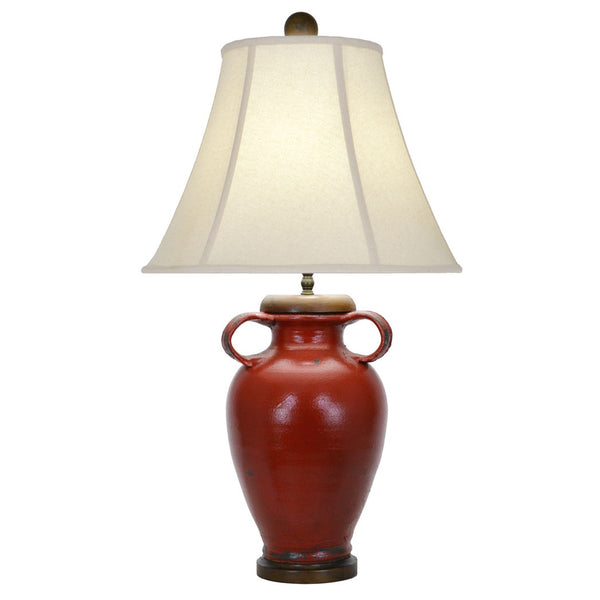 Brookstone Table Lamp - Red