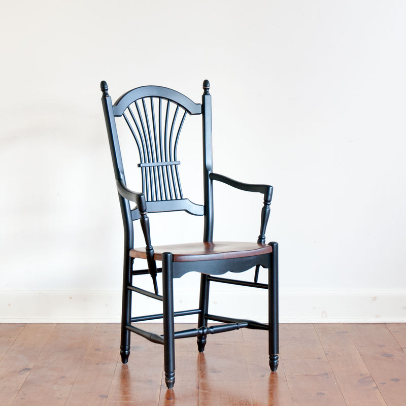 Clarke Arm Chair in Black/Williams
