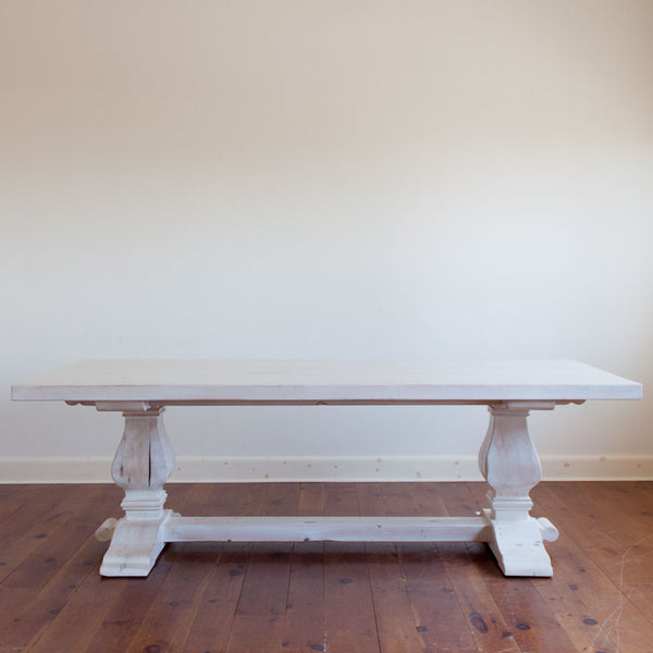 Clayton Table in Whitewash