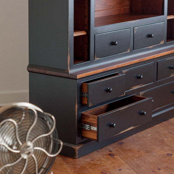 Cormorant Media Cabinet in Black/Williams