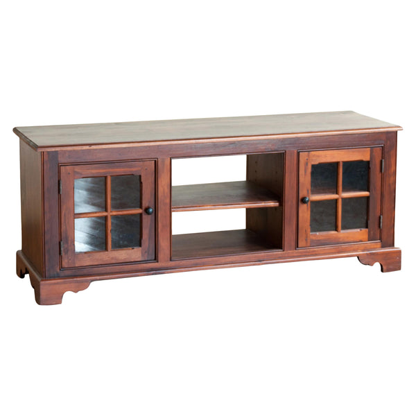 Costilla Media Console in Rustic Cherry