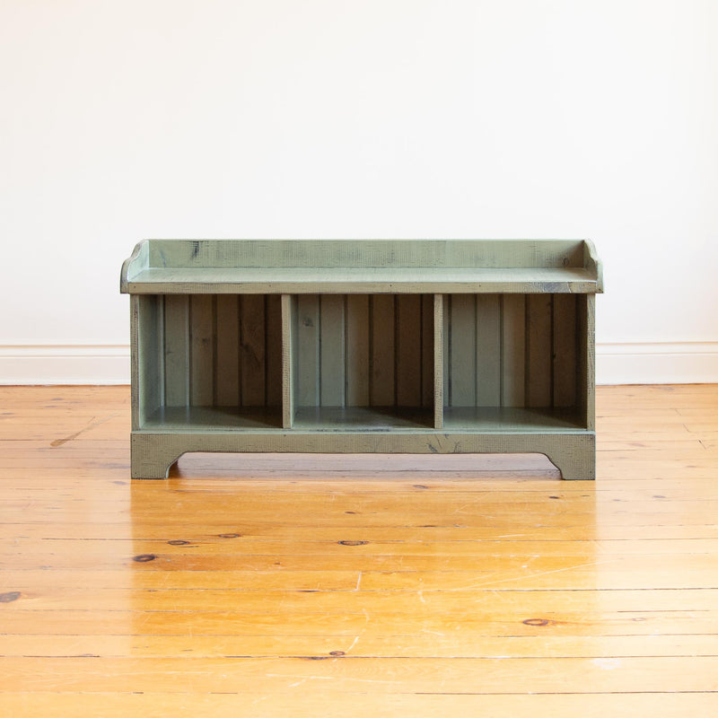 Cubby Bench in Vintage Green/Black