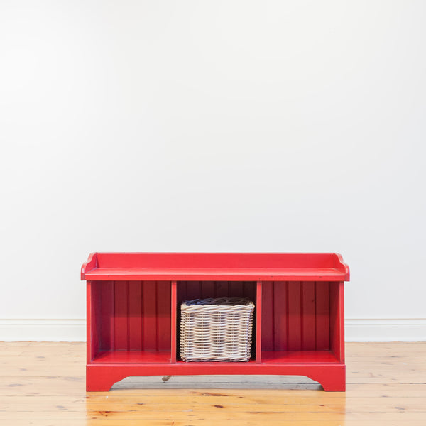 Cubby Bench in Red