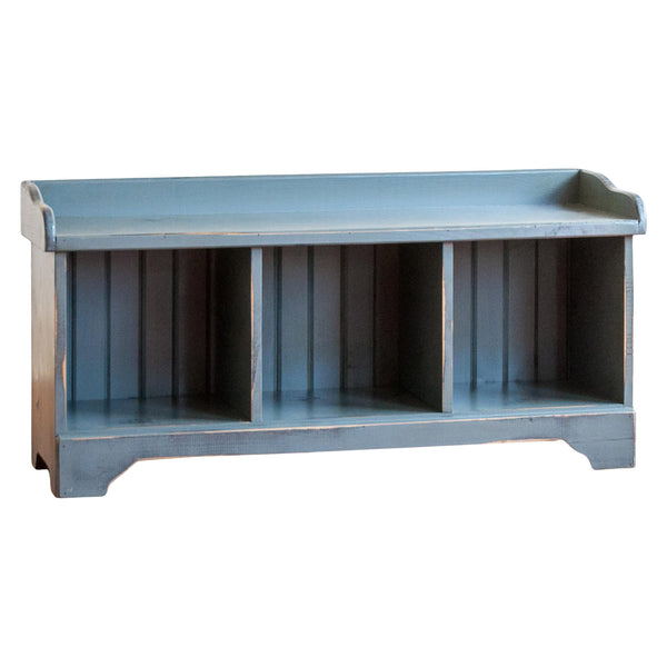 Cubby Bench in Vintage Blue/Black