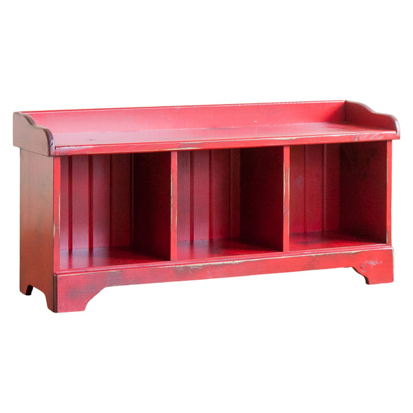 Cubby Bench in Vintage Red/Black