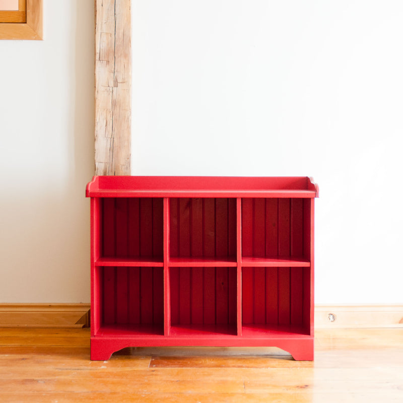 Cubby Console in Red