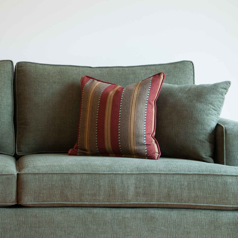 Davenport sofa in olive, closeup