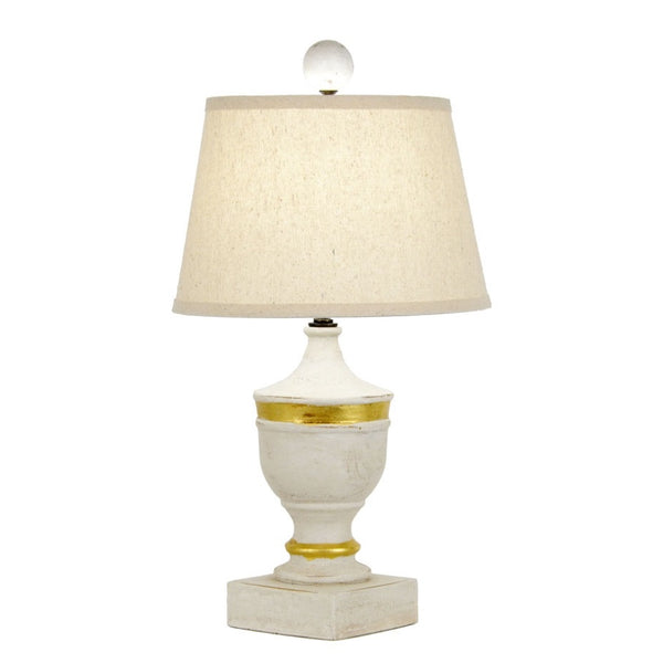 Draper Table Lamp - White/Gold