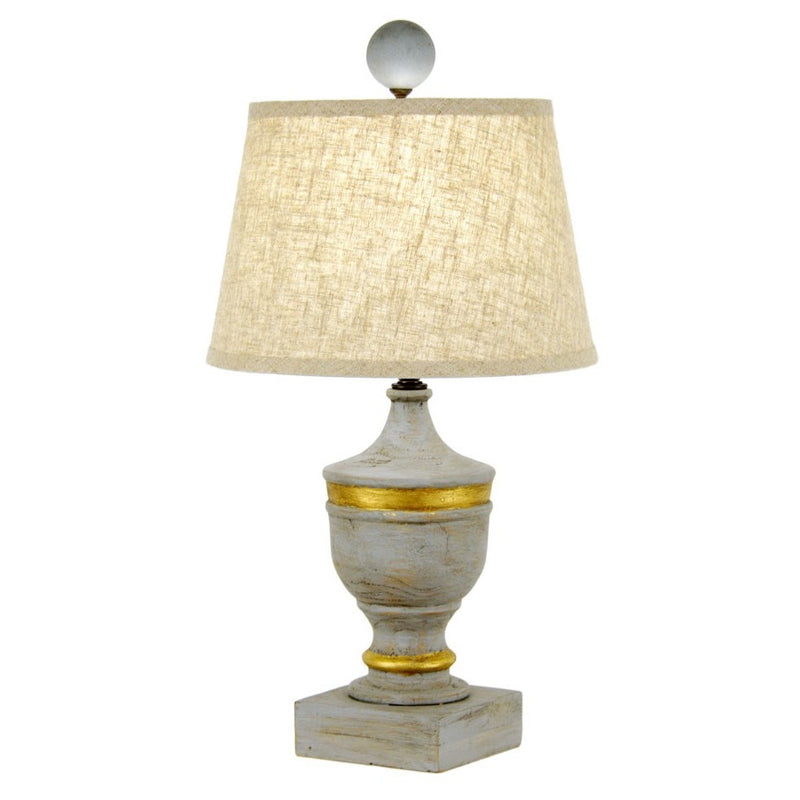 Draper Table Lamp - Grey/Gold