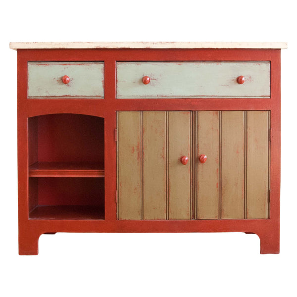 Eddy Sideboard in Red/Green