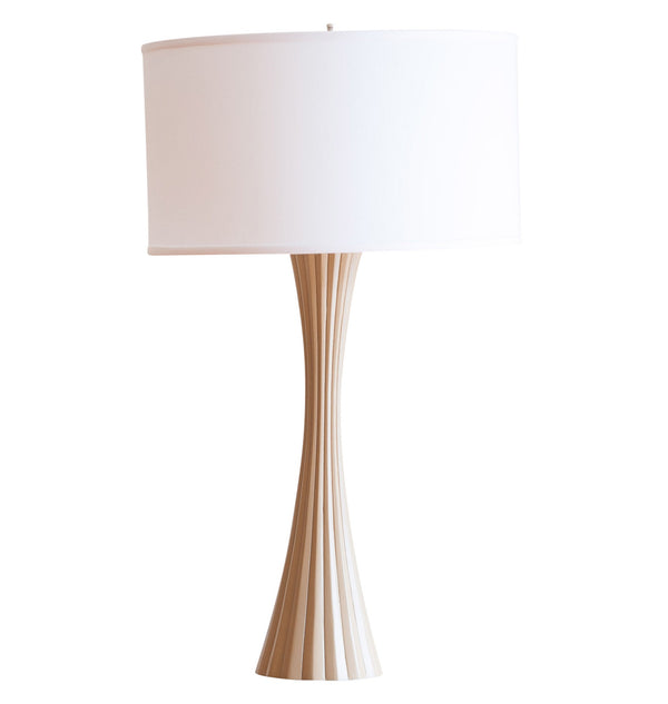 Emery table lamp in beige