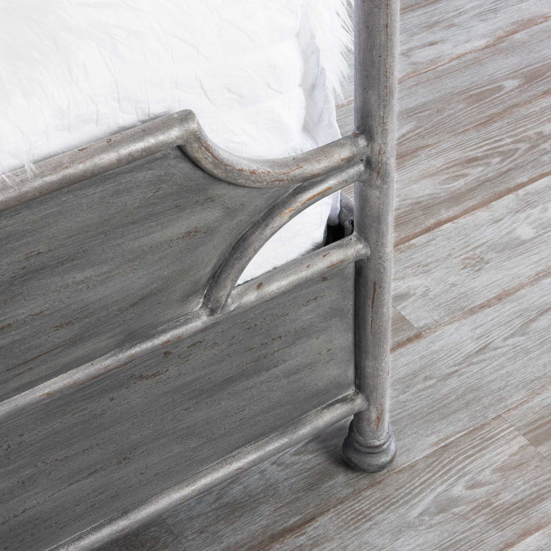 Essex iron bed footboard detail
