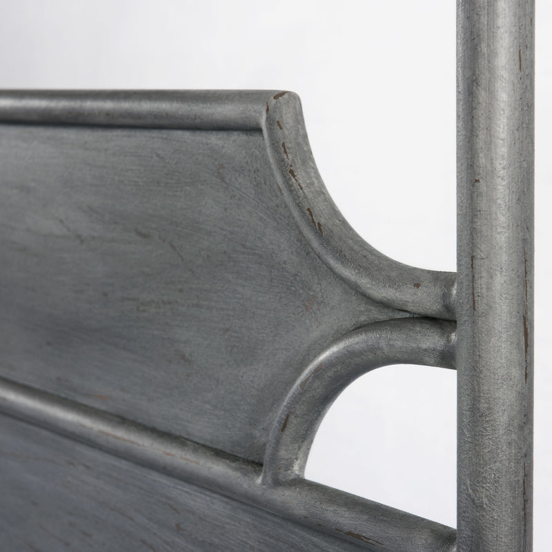 Essex iron bed headboard detail