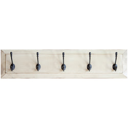 wall coat rack in white