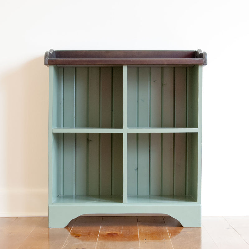 Four cube cubby console in pear, straight on