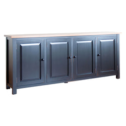 Four-Door Sutton Sideboard in Black/Williams