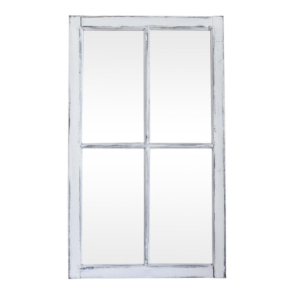 Four Pane Mirror in white