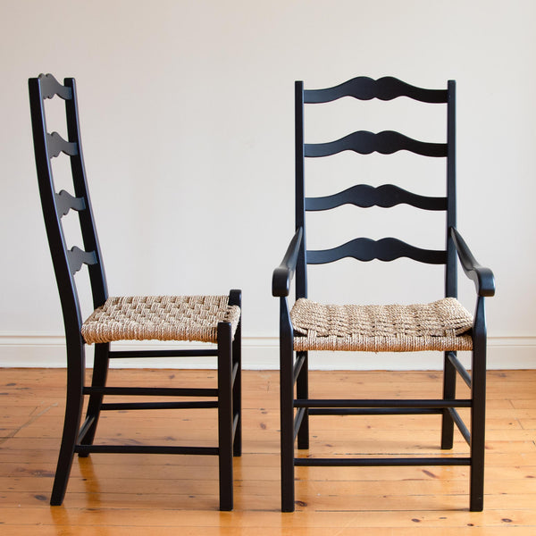 Genevieve Arm Chair in Black/Checkerboard