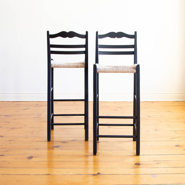 Genevieve Stool in Black/Diamond Point