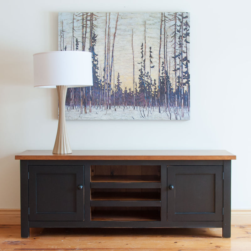 Hatley TV Media Console in Black/Williams