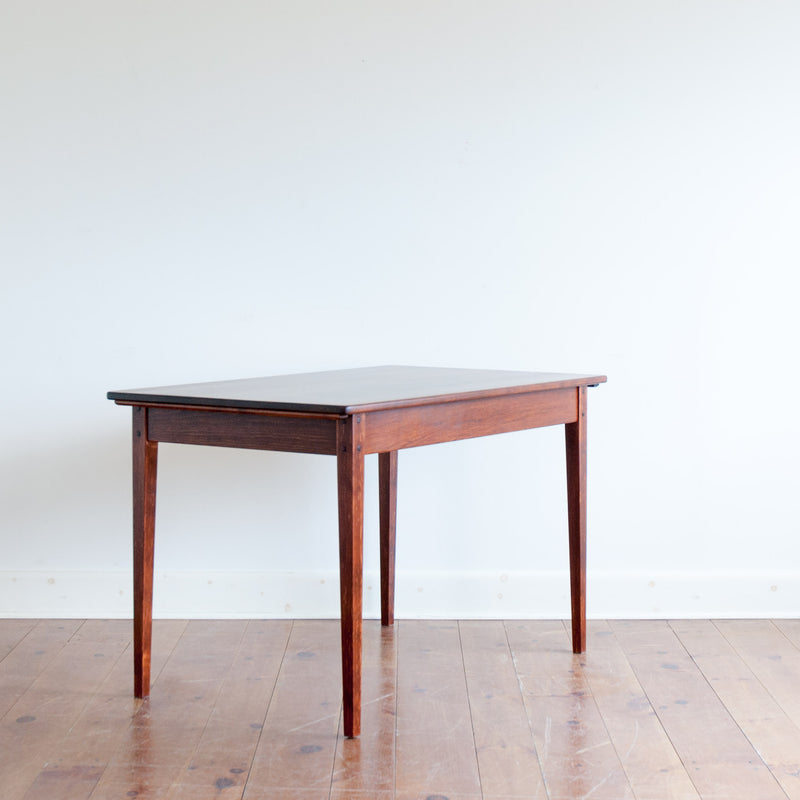 Helen table in antique cherry, angle on