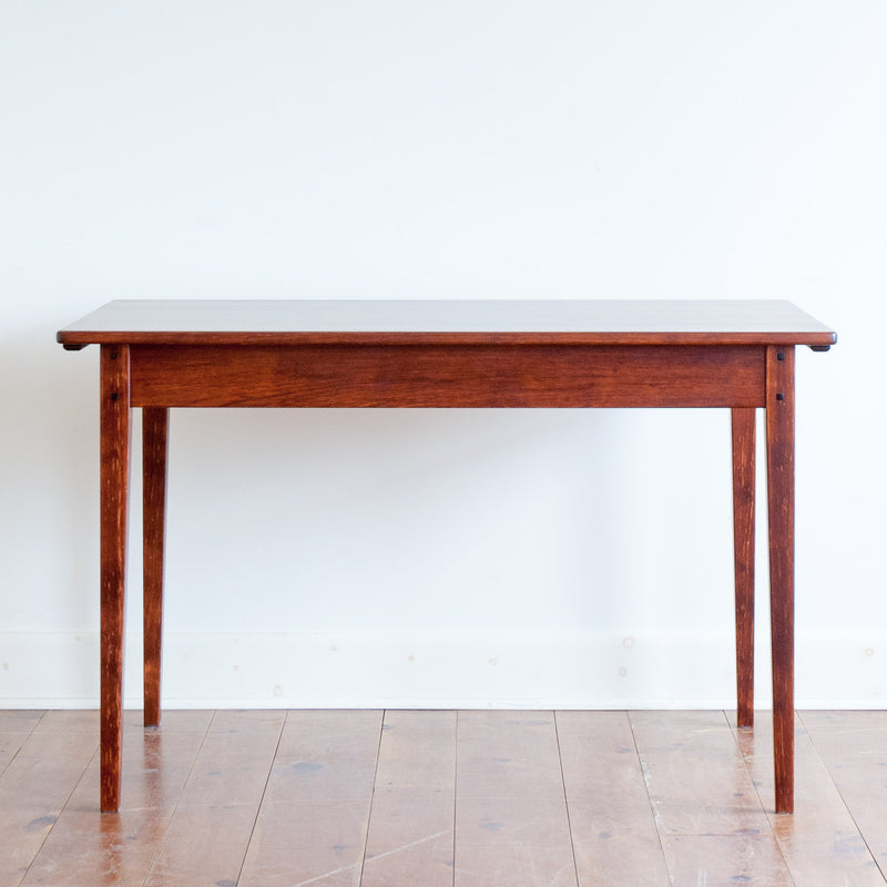 Helen table in antique cherry, straight on view