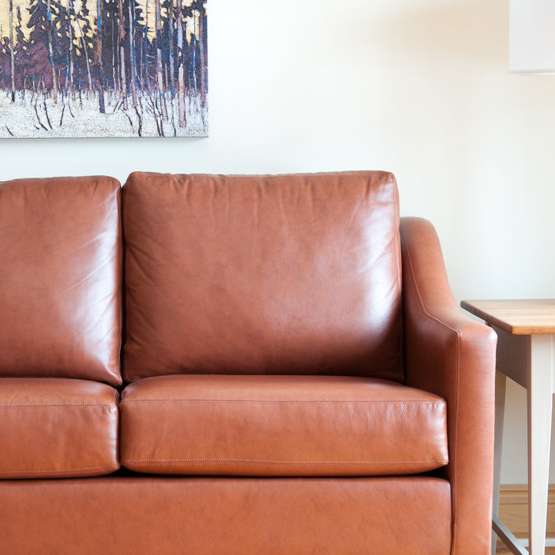 The Holden leather sofa in whisky