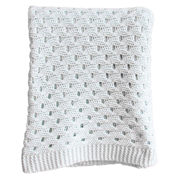 Lenox Trico Throw in Soft Blue