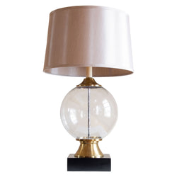 Mona table lamp in sea crest blown glass