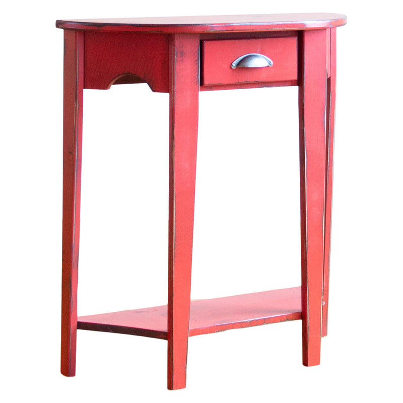 Moore Side Table in Vintage Red