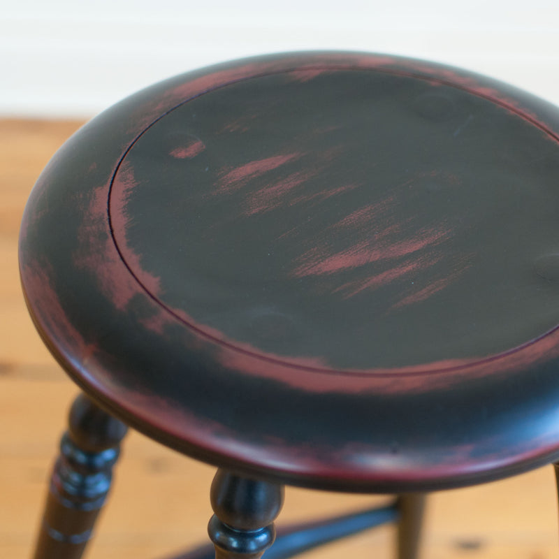 Windsor Counter Stool in Black/Red