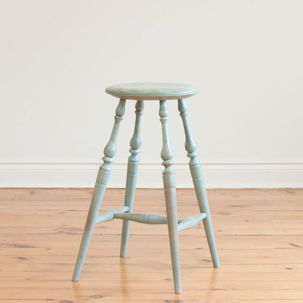 "24"" Windsor Stool in Vintage Turquoise"