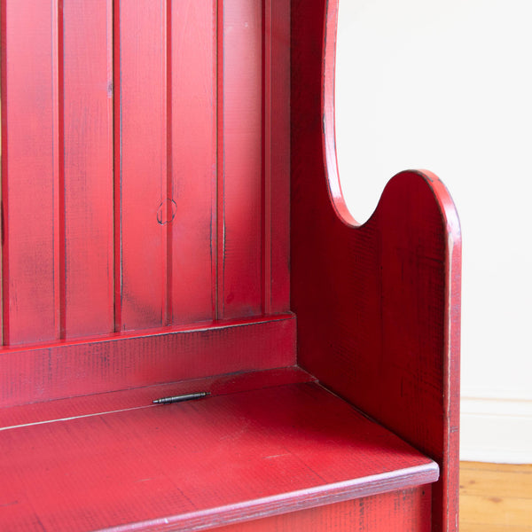 Student Bench in Vintage Red/Black