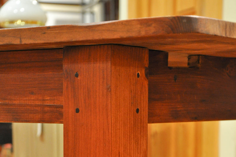 Pegged Joinery Harvest Table Leg | The Emporium