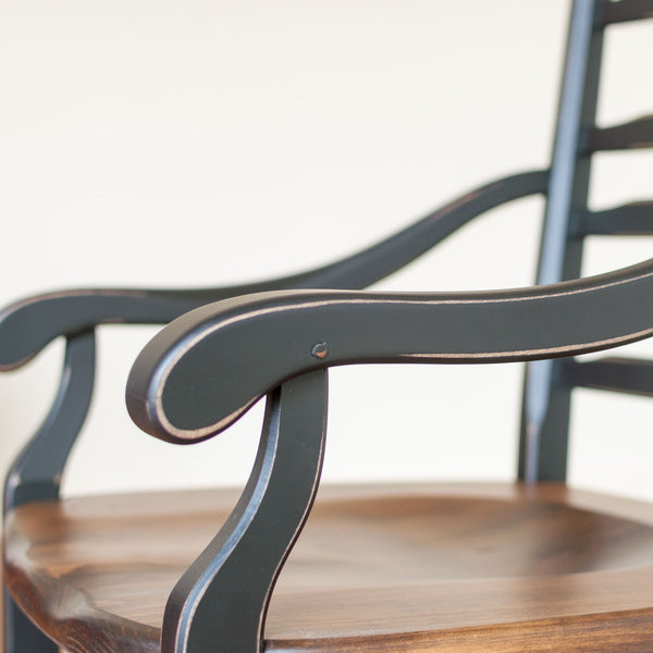 Wolf Arm Chair in Black/Barrel