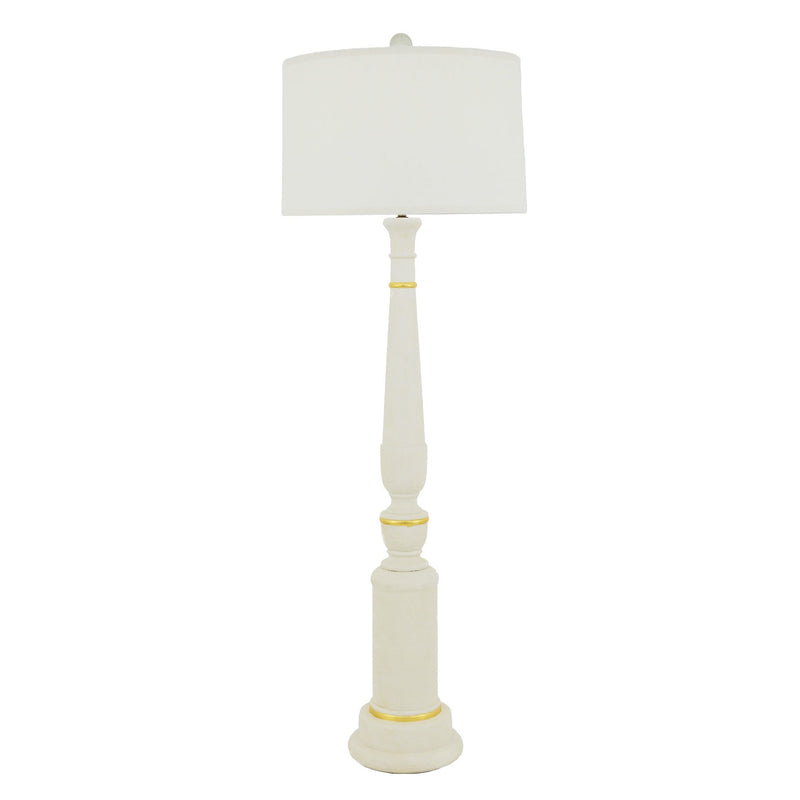 Woodley Floor Lamp - White
