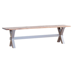 Xander bench in grey/wiliams