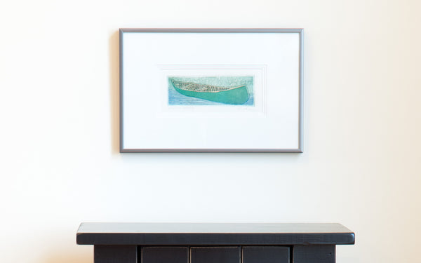 Shafley Green Canoe Print