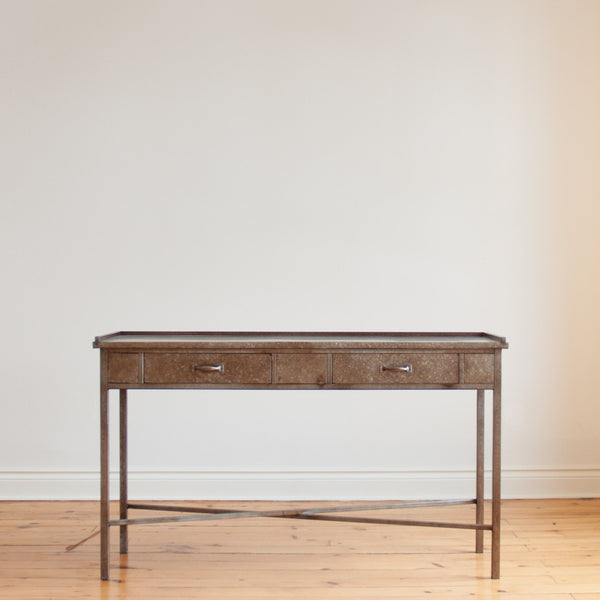Mottled Metal Sofa Table