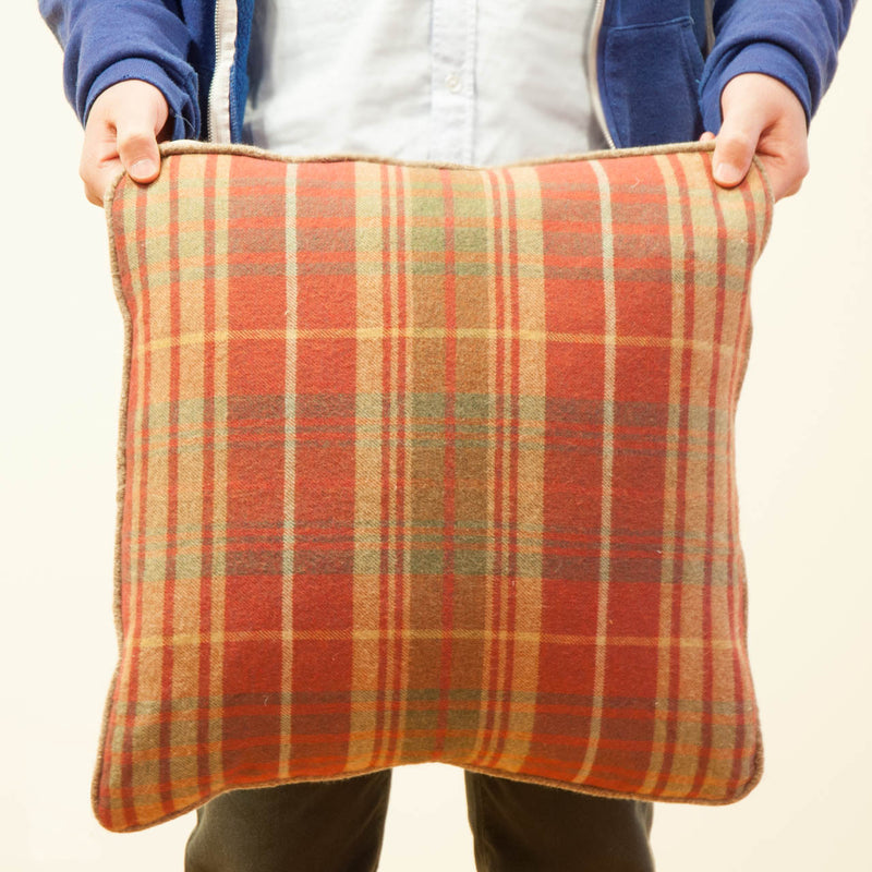 Plaid Flannel Toss Cushion