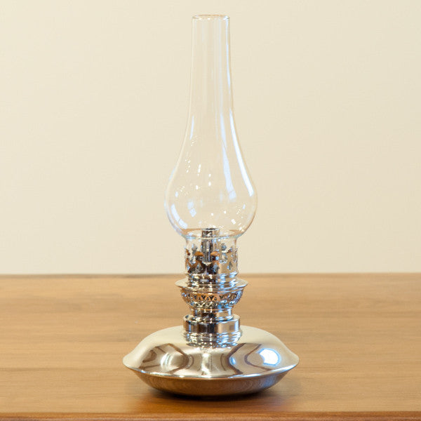"Plateau Polished Pewter 10"" Oil Lamp"