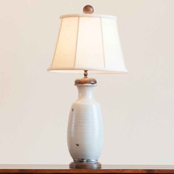Vista Pottery Lamp in Pale Blue