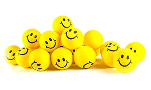 Neon Yellow Smile Stress Balls