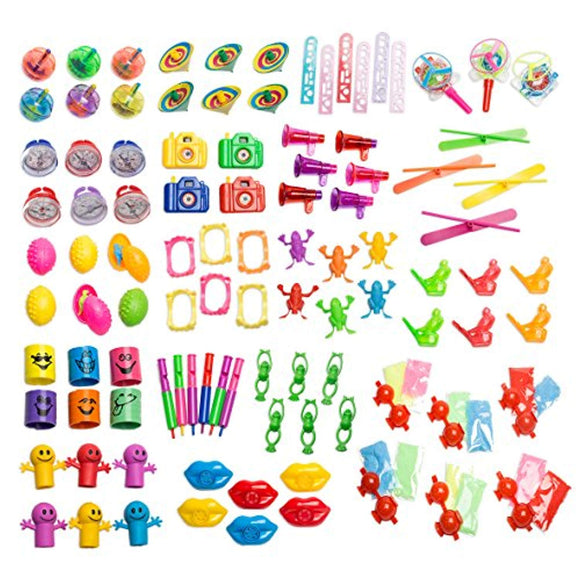 Bulk Party Favor Pinata Toy Assortment Pack of 101 Pc, Mid-sized and Small Toys