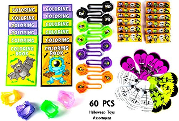 Halloween Party Favor Mega Toy Novelty Assortment (60 Pcs)