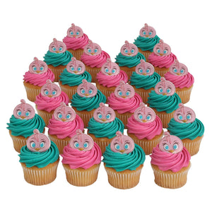 Angry Birds Stella Officially Licensed 24 Cupcake Topper Rings